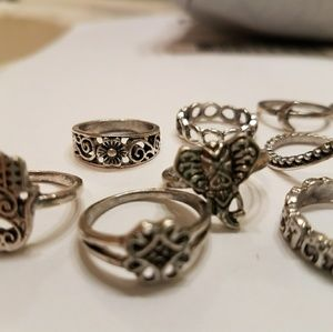 NWOT 13 Piece Boho Ring Set Size 5-7